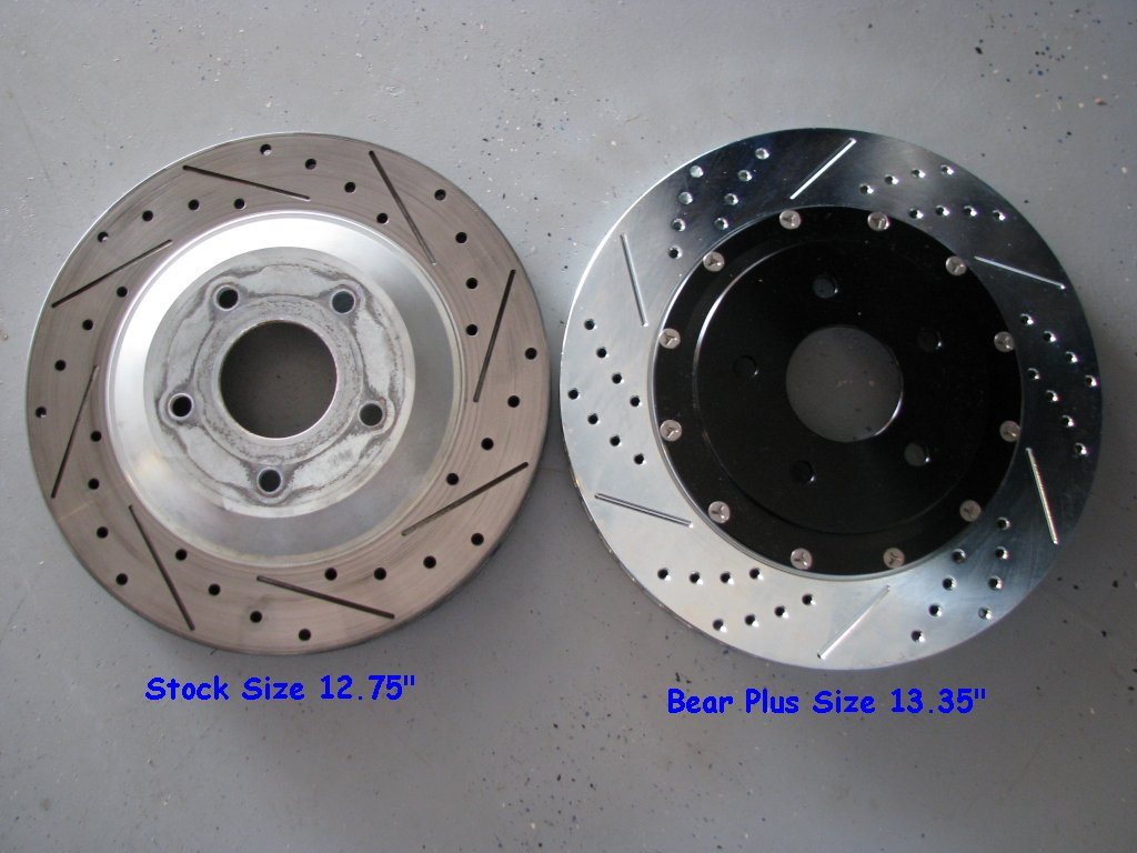 Baer rotors two piece